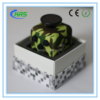 Squeeze funny 3d magic puzzle cube fidget cube camouflage with 2 colors