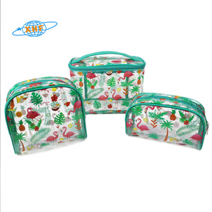 14 Years factory transparent pvc cosmetic bag set