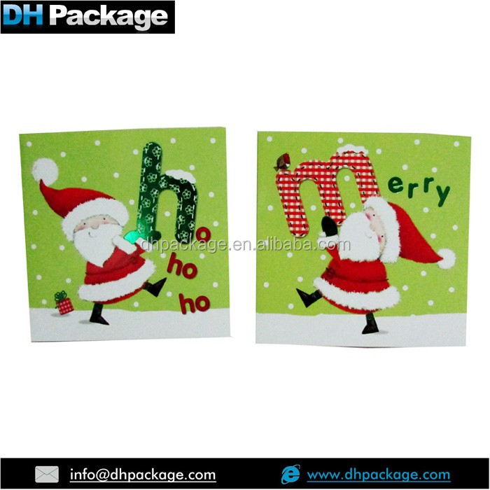Merry Christmas Xmas Greeting Card and Envelope Santa Claus Ho Ho Ho