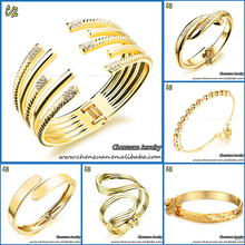 Wholesale price mixed design indian gold plated bangles for women
