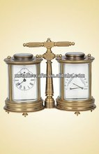 Antique Brass Cased Twins Round French Carriage Clock JG5020