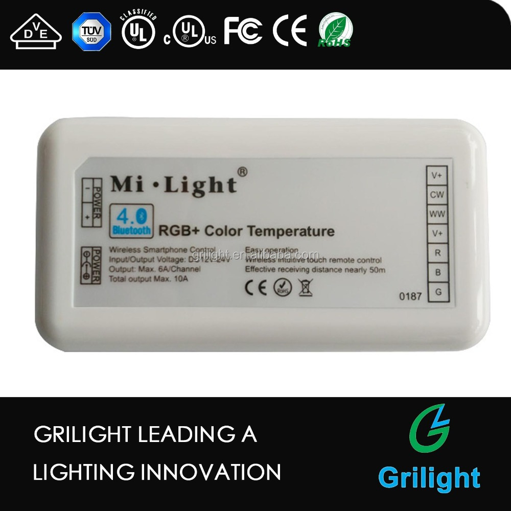 Mi.light CCT adjustable led dimmer RGBW RGB Bluetooth led controller