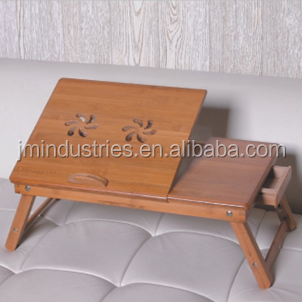 bamboo comptuter desk table