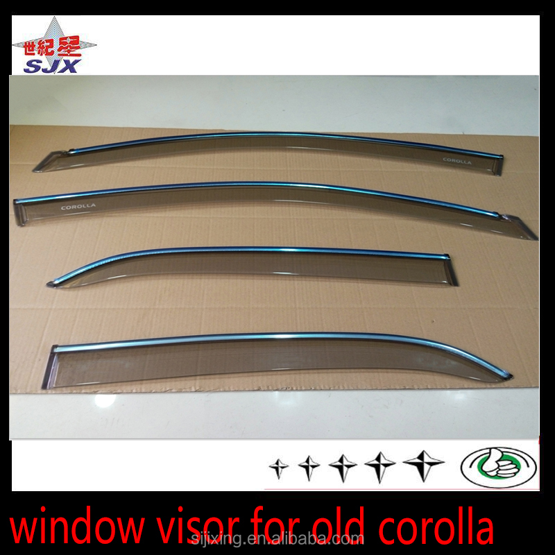 Transparent window visor for toyota corolla 2007 old car side doors