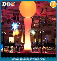 2015 hot selling party/event decoration/LED lighting inflatable pillar/ball