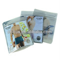 Underwear Package Eco Friendly Euro Hole Resealable Flat Bottom Bag