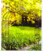 decorative handmade outdoor patio lawn rose arches metal gate wrought iron garden arbors