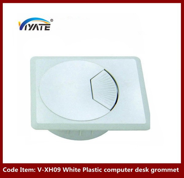 Office Desk Outlet furniture white cable grommet Cabinet Cable Grommet