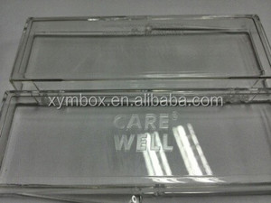 Clear Plastic hinged Polystyrenne Packaging Box for Christmas gift made in china