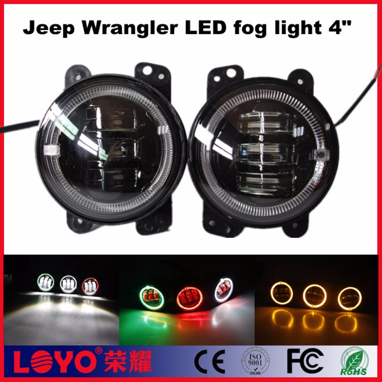 "2016 jeep evil angel eye 4"" led fog light for wrangler jeep"