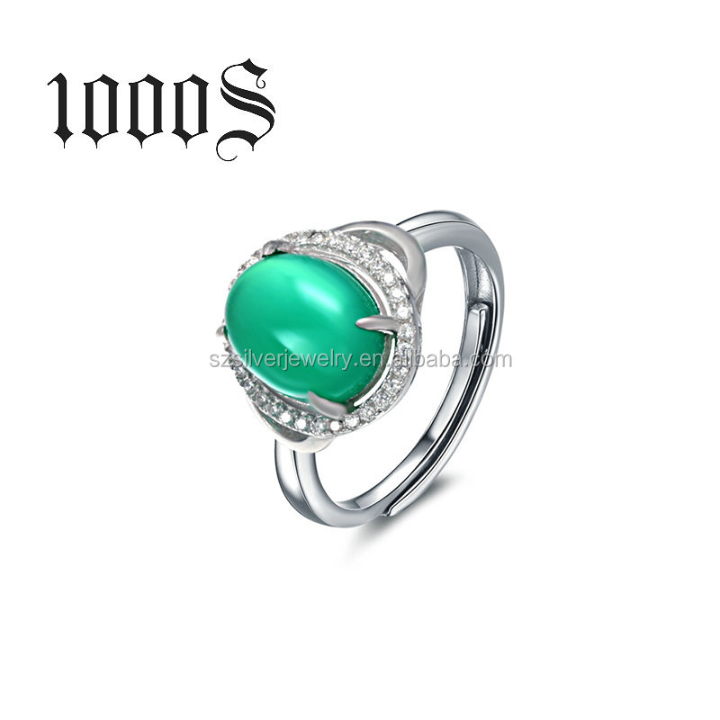 Gemstone Ring Design Silver Sterling Jewelry 925 Wholesale Jewellery Factory