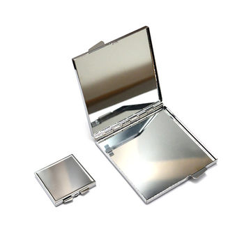 Beautiful custom travel gift metal gold magnification cosmetic compact pocket mirror