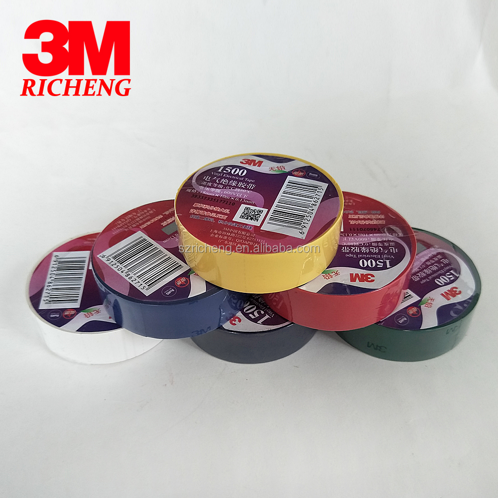 3M insulation tape/PVC material/ lead-free electrical tape 3M 1500