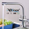 ABLinox 2018 new stainless steel kitchen 3 way faucet