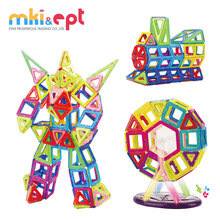Plastic magnetic building toy blocks for sale