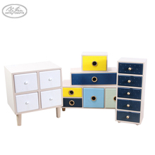 Colorful wooden drawer style custom jewelry storage box organizer