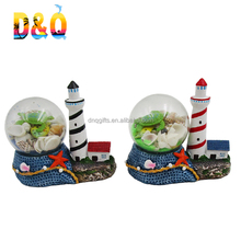 2018 new design nautical theme polyresin lighthouse figurine
