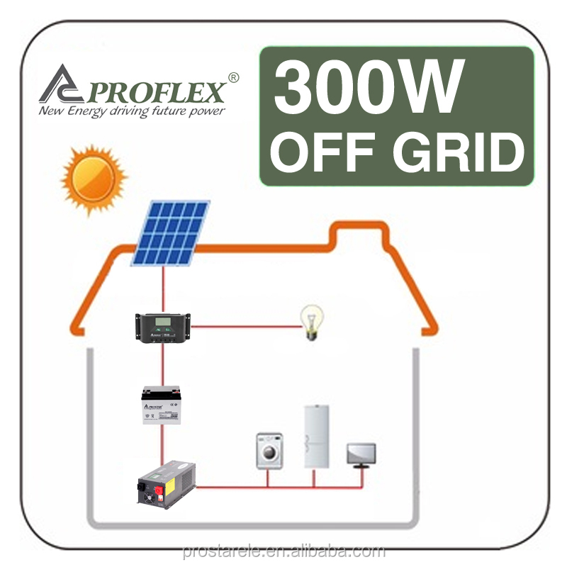 PV panel 300W Off grid Mini Home Solar Power System