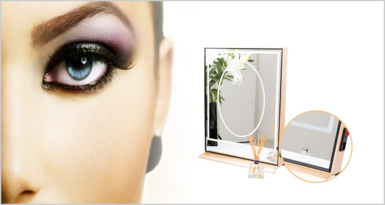 Hollow Out LED Vanity Mirror Light Built-in LED Makeup Salon Station