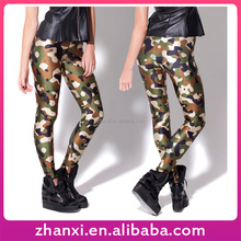 Wholesale girls skinny woman spandex ladies camo tights camouflage leggings