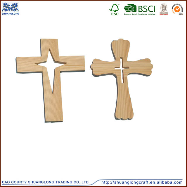 factory price wholesale decorative crosses/hand carved wooden cross