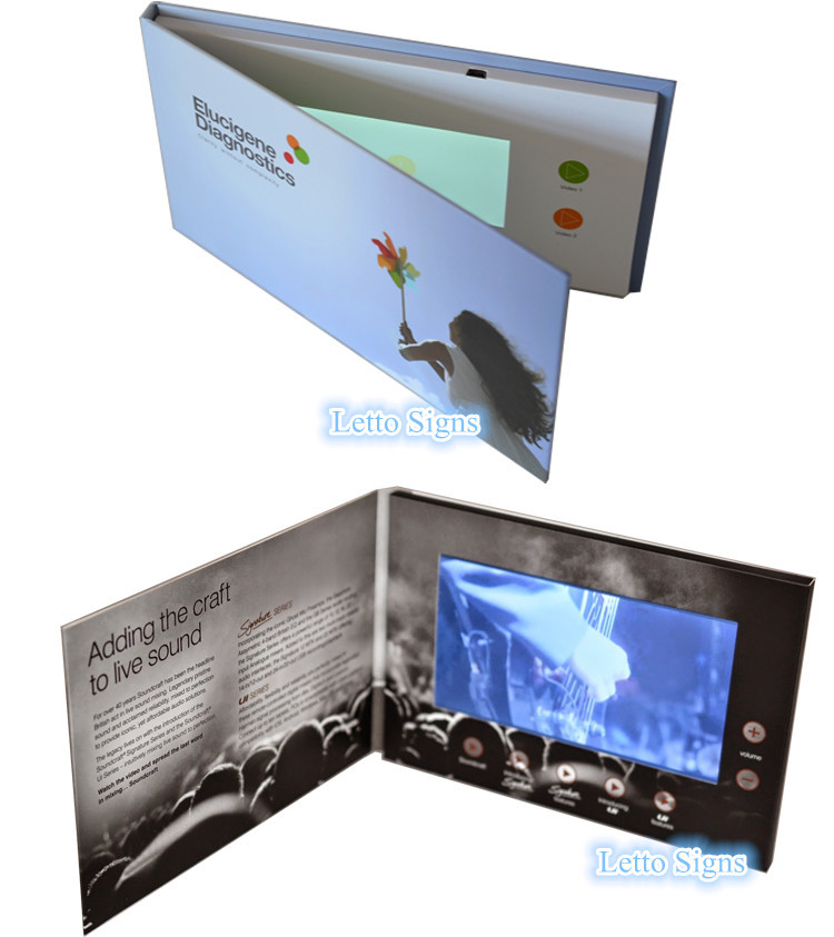 Bulk business card holders video module cards with lcd for Bulk business card holders
