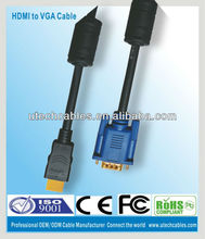 HDMI to VGA 15 Pin Cable Adapter M/M 1080p