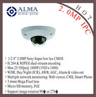 "1/2.8"" 2.0MP SONY CMOS; H.264; 3.6mm mega pixel lens; 30fps@1080P; POE"