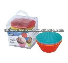 set of 24 mini silicone muffin cups