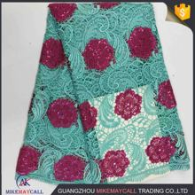 2017 new african chemical guipure lace fabric for party dress beautiful border