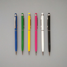Jinfeng JF2040-23 slim hotel ball pen stylus promotional metal pen for touch screen