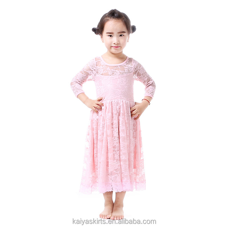 Sweety princess birthday evening party wear lace kids clothes girls dresses