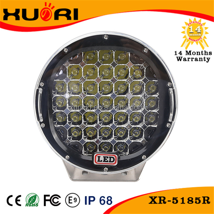 2015 ! 9inch 185W Car led work light, 6000K 15000LM IP68 auto LED working light, flood beam black color driving lamp