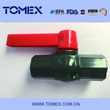 Thread/Slip PVC Octagonal Ball Valve with ABS Red Hand