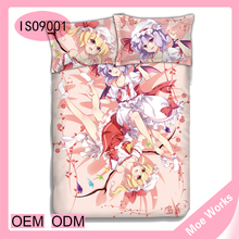 Touhou Project Flandre Scarlet Remilia Scarlet Cute Cartoon Anime Colorful Bedding Sets Queen Size,4Pcs