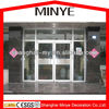 Aluminum frame exterior decorative glass main double casement doors for shop commercial use