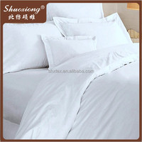200tc plain bed sheet sets white hotel bedding fabric