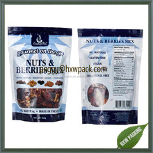 Custom printed resealable ziplock mixed dried food nuts packaging pouch 250g