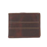 vintage leather men wallet coin holder card purse zipper wallet
