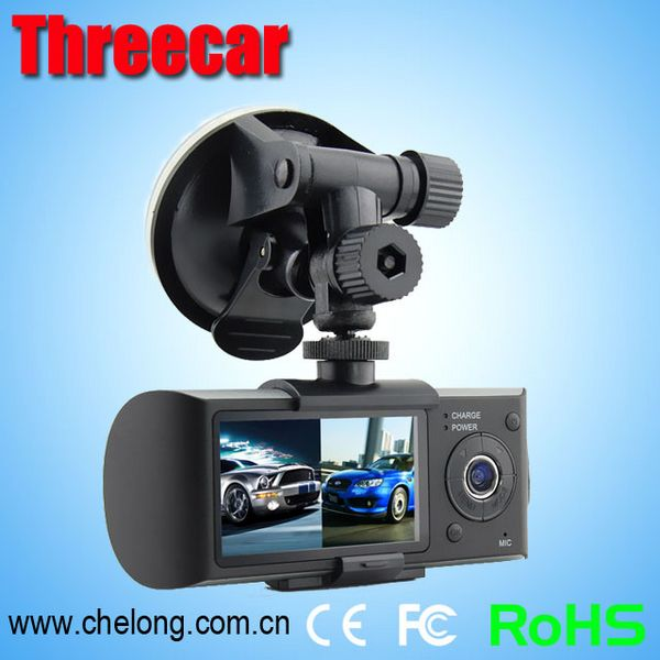 Free sample 2.7inch super full hd GPS dual lens accident car sale