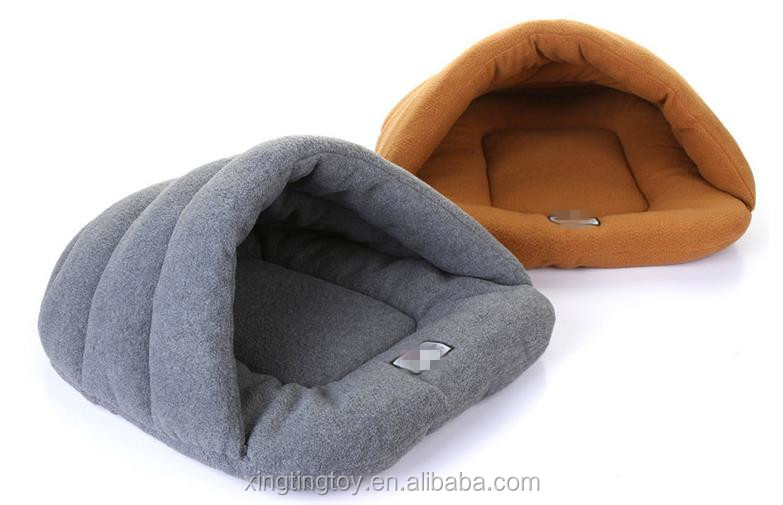 Dog bedding cat pet cave bed cat soft sleeping bag cat slipper shaped bed slipper pet bed