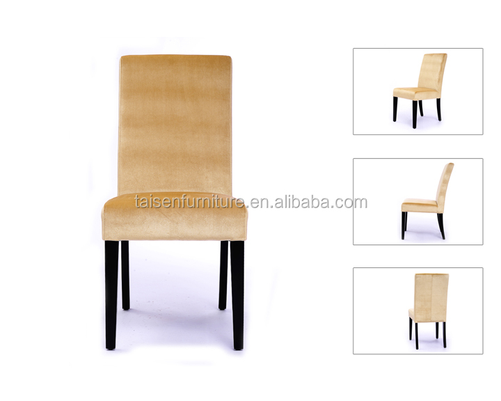 High Back Velvet Dining Chairs For Hotel Restaurant Dining