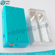 cnc machining electric cigarette machine parts with aluminium anodizing