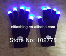 led flashing glove,100%cotton
