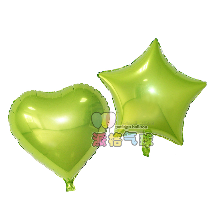 18inch heart shape metallic plain inflatable foil candy balloon