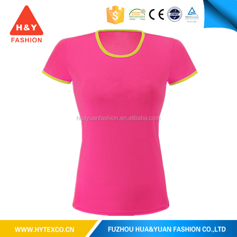 Anti pilling custom printed women t shirt dri fit shirts for Printable t shirts wholesale