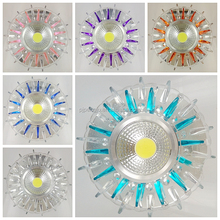 Modern European style round crystal LED side light ceiling lamp COB led