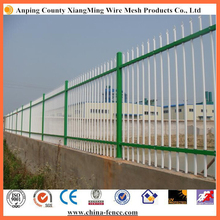 Power coated tubular steel wrought iron fence modern used palisade fence for sale