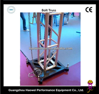 GZ HaoWei aluminum truss and Sleeve block,light trusses and stage 6082-T6