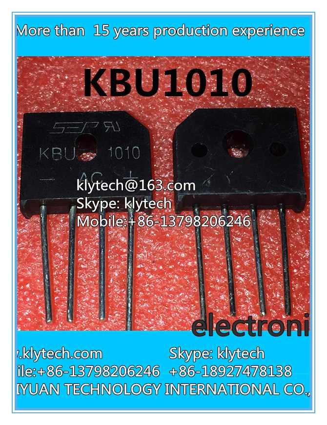 5 PCS/LOT Integrated Circuits KBU1010 induction cooker flat bridge rectifier bridge bridge pile <strong>1000</strong> v 10 <strong>a</strong> IC chip electronIC c